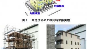 防災科研と名大、地盤配管設備等を再現した木造3階建住宅の震動台実験を実施