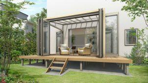 YKKAP、省施工なテラス屋根・囲い商品「ソラリア」を発売
