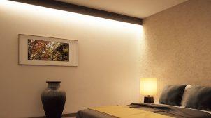 永大産業、省施工な「間接照明+壁材」セットを発売