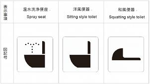 日本レストルーム工業会、「温水洗浄便座」設置を表すマークを策定