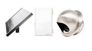 災害時のスマホ充電が可能なソーラー換気扇を発売