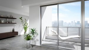 LIXIL、ビル用アルミサッシのデザイン性・断熱性・水密性を向上