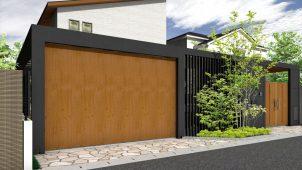 タカショー、色展開豊富な横引き電動ガレージドアを発売