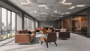 パナソニック、600グリッド天井に自由に配置できる建築照明器具
