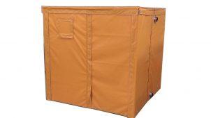 塗料・コーキング材の凍結を防ぐ「組立式熱風ボックス」発売
