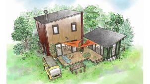 アールシーコア、外の暮らしが主役のデッキ・小屋付き新商品