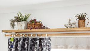 トーソー、カーテンレール上に棚板を付ける新商品発売