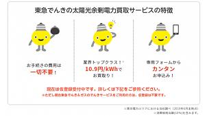 東急パワーサプライ、FIT後の余剰電力を10.9円/kWhで買い取り