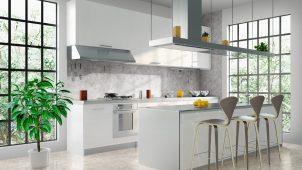 大建工業、突き付け施工仕様のキッチン用不燃壁材を発売