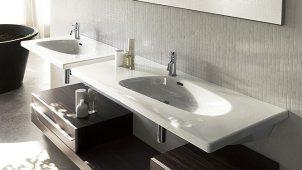 セラトレーディング、スイス・ラウフェン社の楕円洗面ボウル