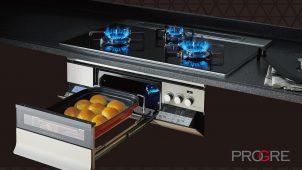 ノーリツ、燻製・低温調理が可能なグリル搭載のビルトインコンロ
