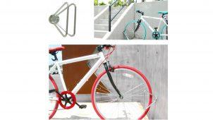 カツデンアーキテック、三角形の壁付け型サイクルスタンドを発売