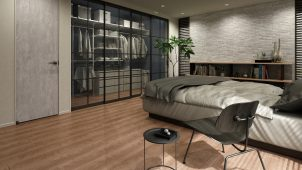 大建工業、シート床材「トリニティ」にグレイッシュカラー追加