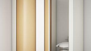 オカムラ、ロングセラーのトイレブースの静音性・意匠性を向上