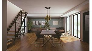 パナソニック、耐震住宅工法の2階建てコンパクト住宅 1階を大空間のLDKに