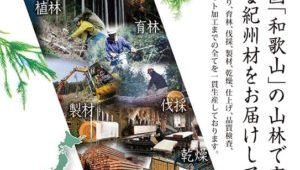 植林からプレカット加工までの全てを一貫生産する「山長ブランド材」