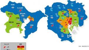 1都3県賃貸住宅市況、7地域が好転 2地域が悪化 タス調べ