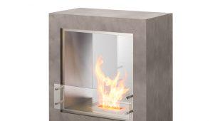 コンクリートカラーのバイオエタノール暖炉、30台限定で発売