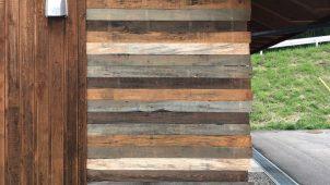 「あづみの松」をアンティーク調に仕上げた板材発売
