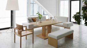 エスティック、ダイニングとリビング融合する家具シリーズ発売
