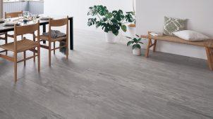 パナソニック、石の素材感にこだわった床材や収納を発売