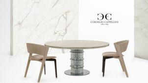 伊コルネリオ・カッペリーニ社の新作高級家具を展示販売