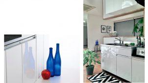 アイオ産業、セクショナルキッチンの標準扉を鏡面仕上げに