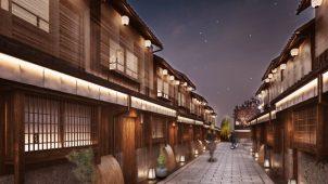 築110年以上の町家群全体を改修した「Nazuna京都 椿通」が4月オープン