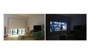 映写も可能、完全遮光の窓用スクリーンをネット販売