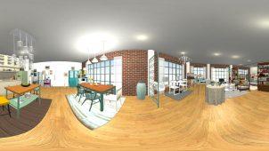 メガソフト、「3Dマイホームデザイナー」に360度画像出力の新機能
