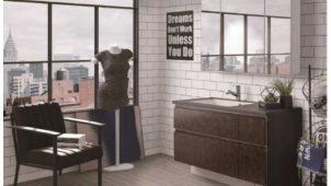 アイカ、女性目線で開発した洗面化粧台に収納アイテムを追加