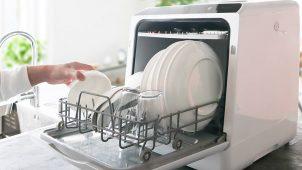 税込2.98万円、工事不要なタンク式食洗機を発売