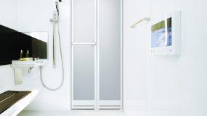 YKK AP、リフォーム用浴室ドアの施工性を向上