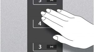 タッチレス乗降+混雑度把握が可能なクーラー付きエレベーター