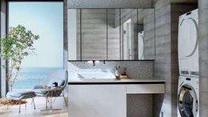 LIXIL、洗面化粧台「ルミシス」にハイバックベッセルタイプ