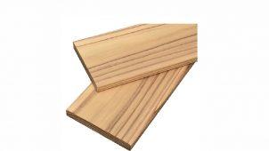 越井木材、潮解・白華現象を98%低減した内装用防火木材