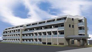 越野建設、調布に62戸の楽器対応賃貸住宅