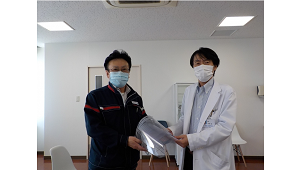富士工業、フェイスシールド生産し医療機関などに提供