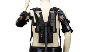 上向き作業に特化したアシストスーツを薄型化