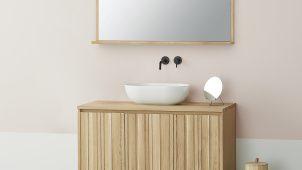 サンワカンパニー×カリモク、洗面向けミラーを発売