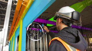 施工BIM運用に適したヘルメット一体型MRデバイス