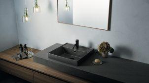 セラトレーディング、直線デザインの洗面器「TR2」にマット色