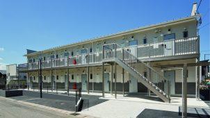 BXグループ3社が屋外鉄骨階段廊下の構造計算〜施工を支援