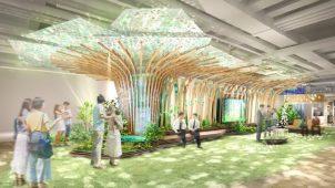 パナソニックセンター大阪、「都市の中の森」テーマとした新エリア