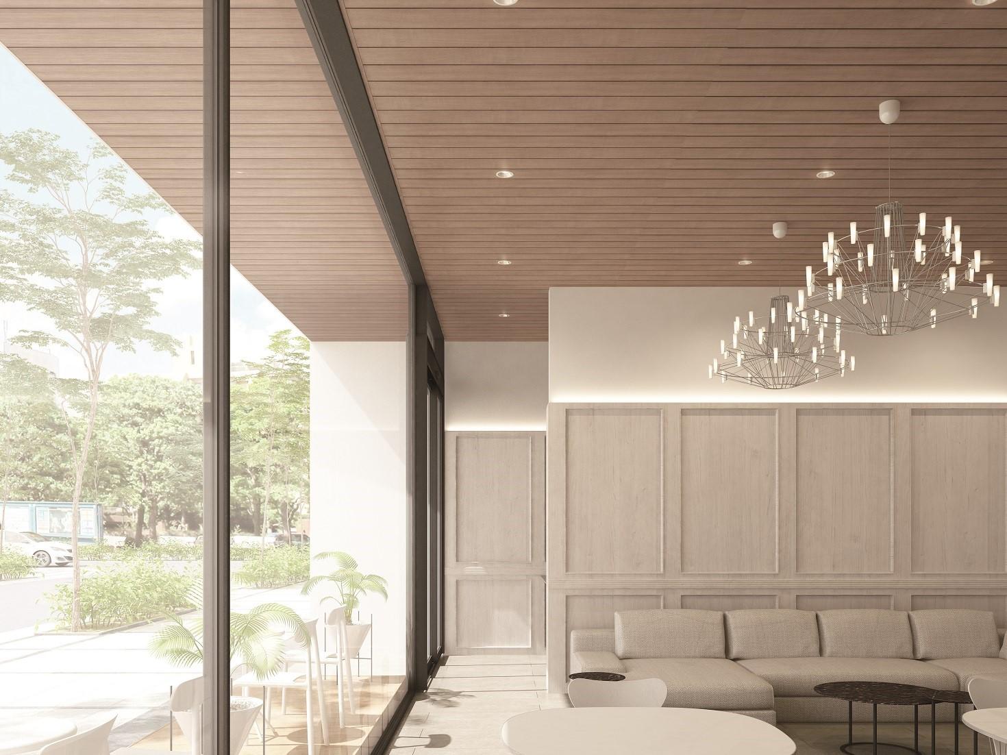大建工業、内外空間がつながるダイライト基材の羽目板