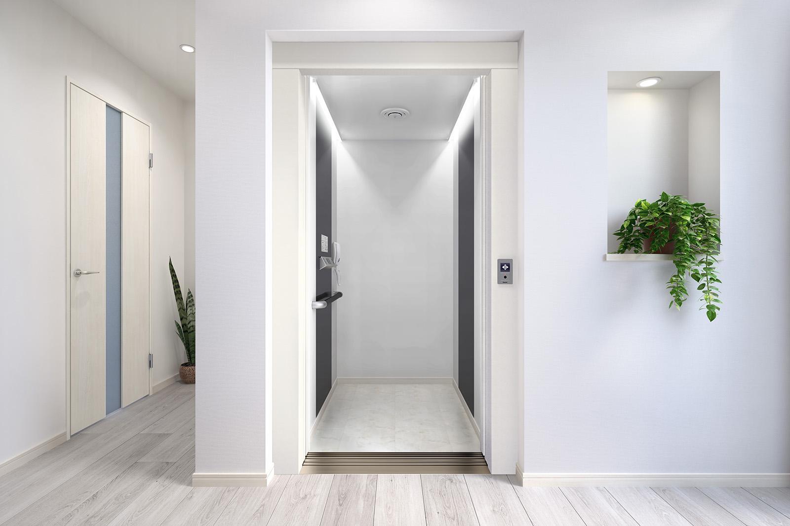 パナソニックエレベーター、間接照明で居心地にこだわり
