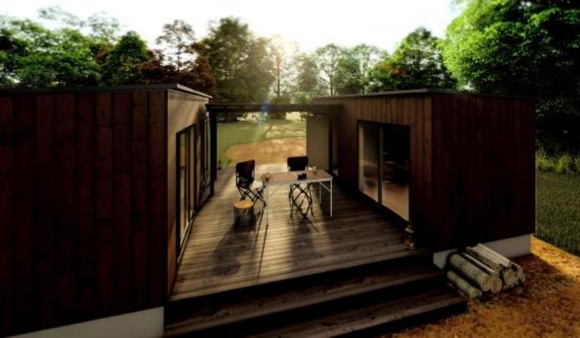 住友林業、茨城県境町などと包括連携協定 CLTの移動式応急仮設住宅を開発