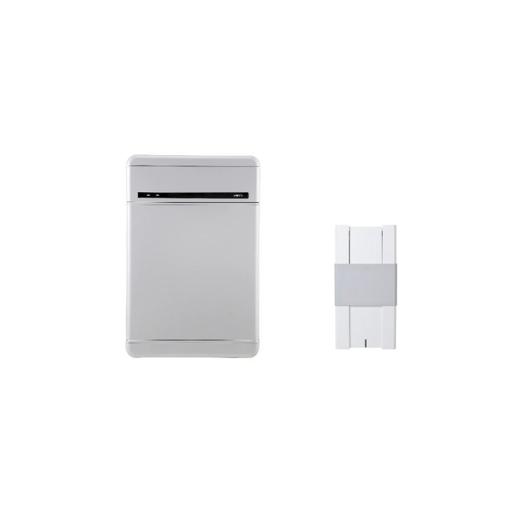 浸水リスク回避する壁掛け設置可能な蓄電池ユニット