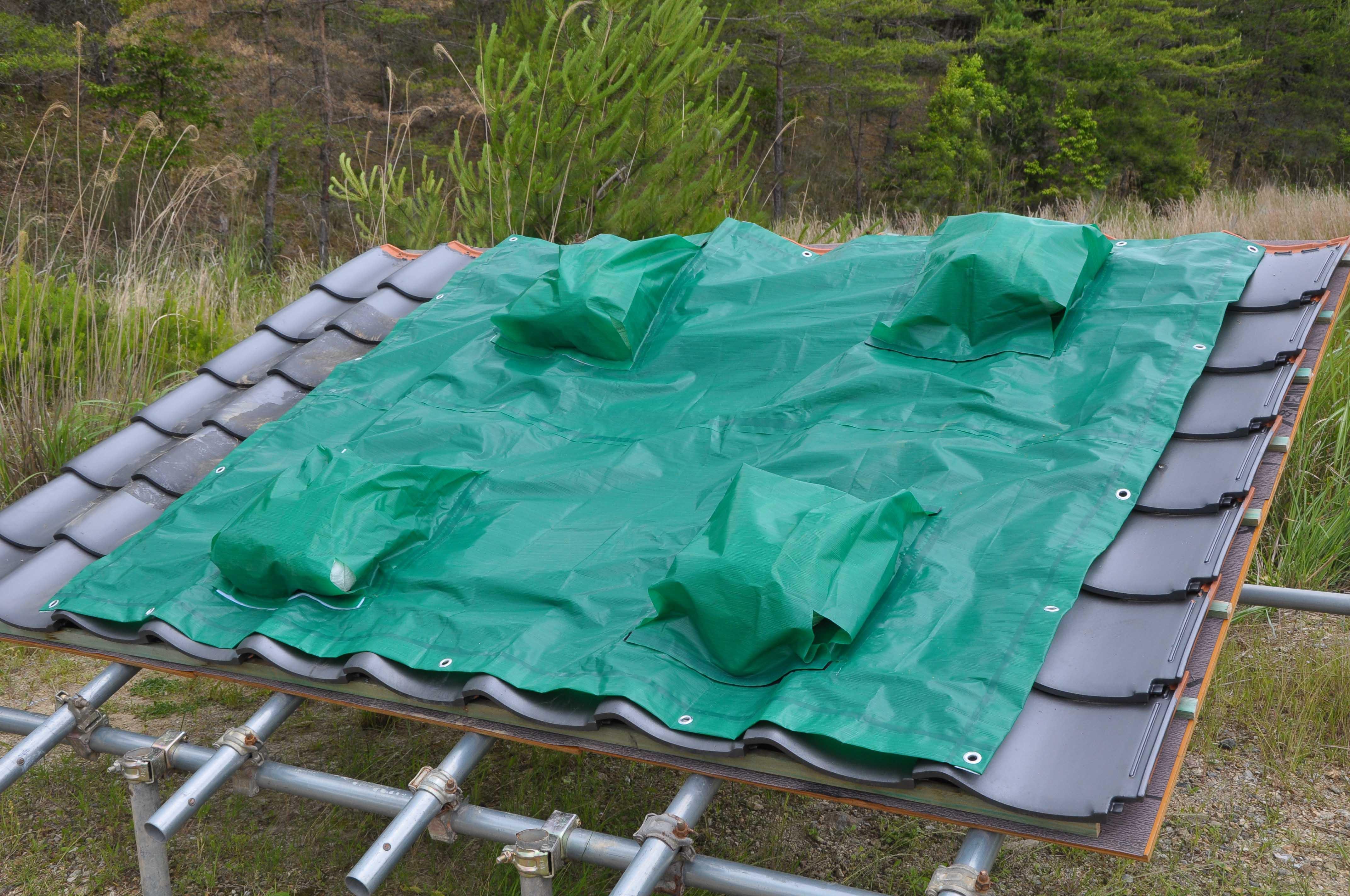 被災屋根の応急処置に使える高耐候養生シートを発売