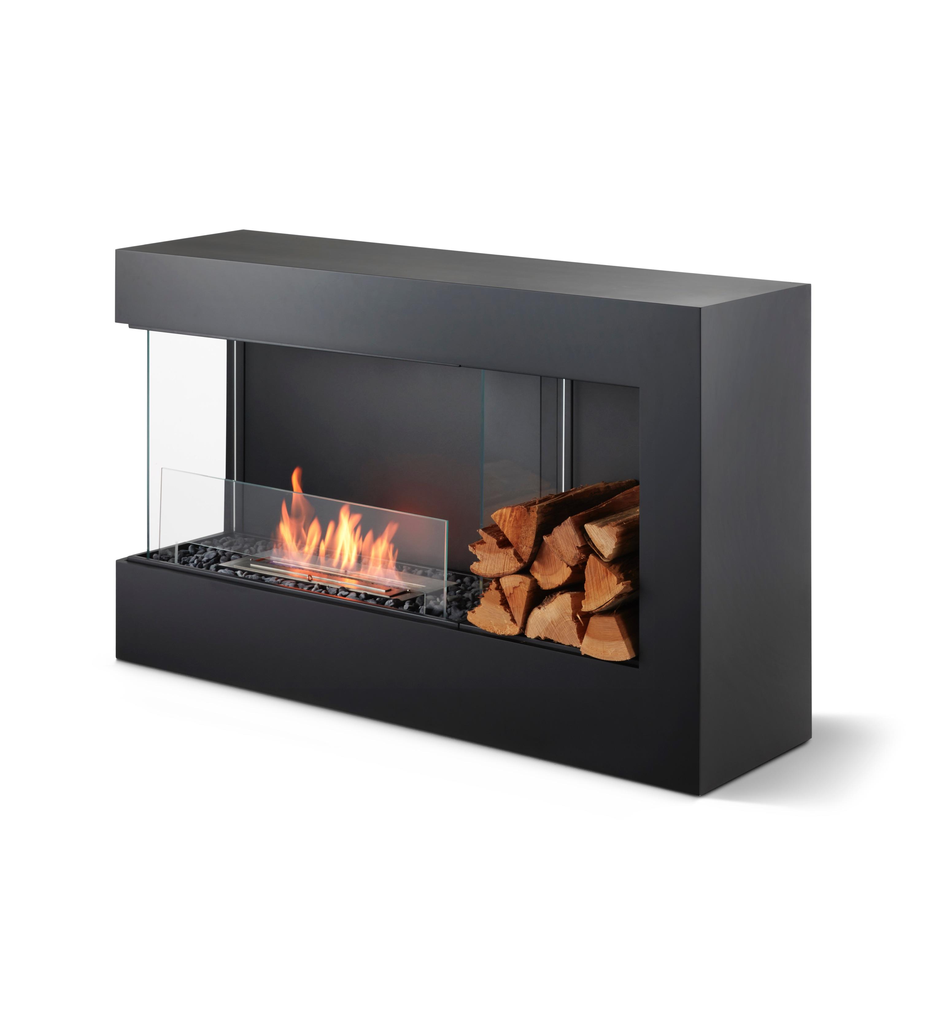 バイオエタノール暖炉にモダンな横長炎の新シリーズ